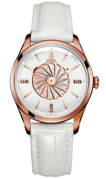 浪琴表康卡斯女装钻石腕表,拥有可旋入式后盖,防水功能达5个大气压.图片