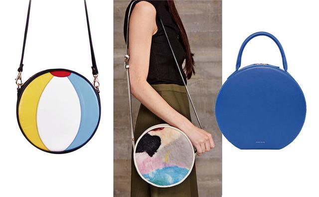 当包包们都以方方正正的形状横行天下的时候,圆形包包顶着