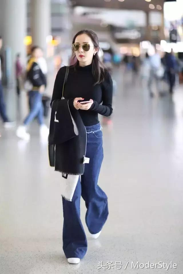 学会阔腿裤+平底鞋的搭配套路,高级又有时髦感