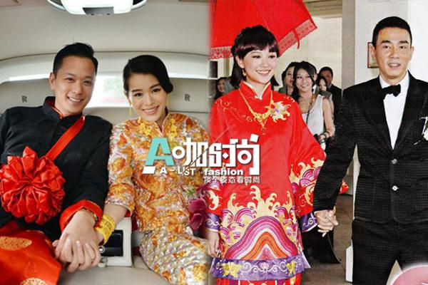baby美艳刘诗诗搞怪 揭秘十大明星中式婚纱照图片