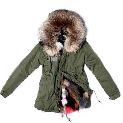 送给怕冷星人 威武御寒的毛领厚外套