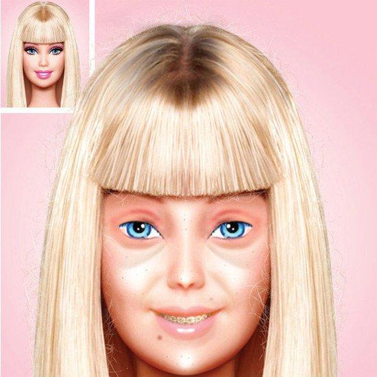 芭比卸妆成老太 素颜娃娃惊呆小美妞
