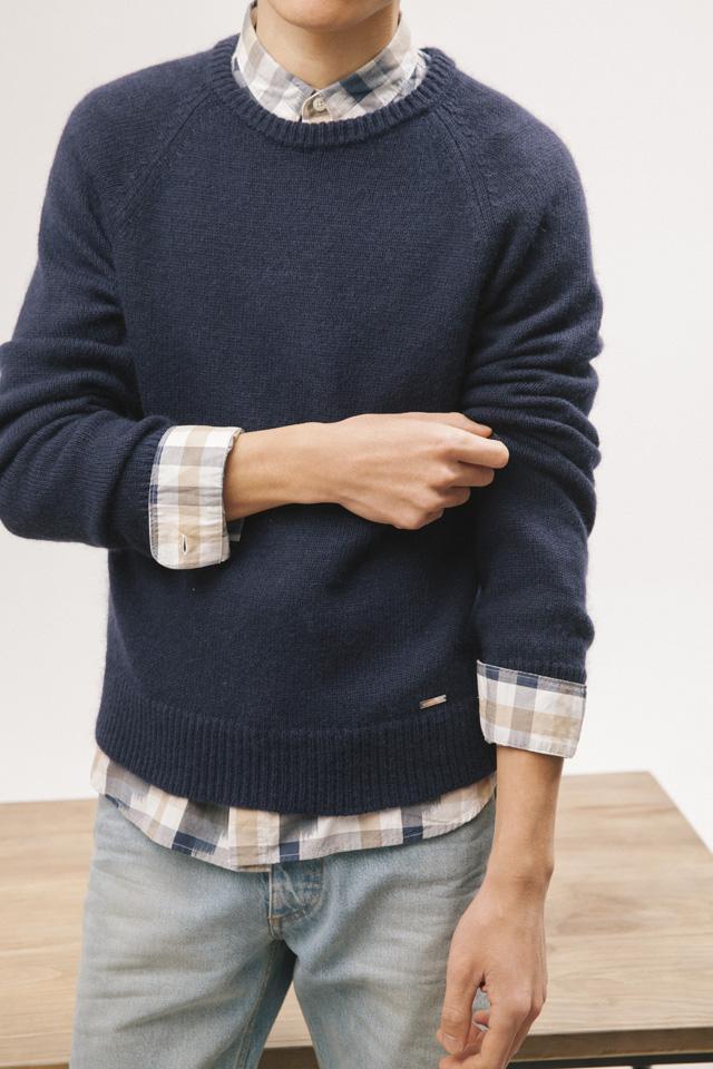 大热的暖男装备 衬衫+毛衣的8种穿法