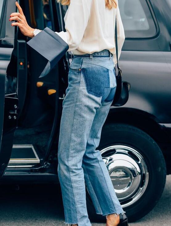 刘雯何穗都爱上了同一条牛仔裤?