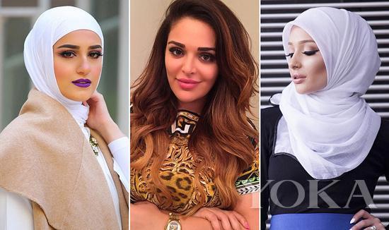 10个中东美妆博主 即使裹头巾也美的你挪不开眼
