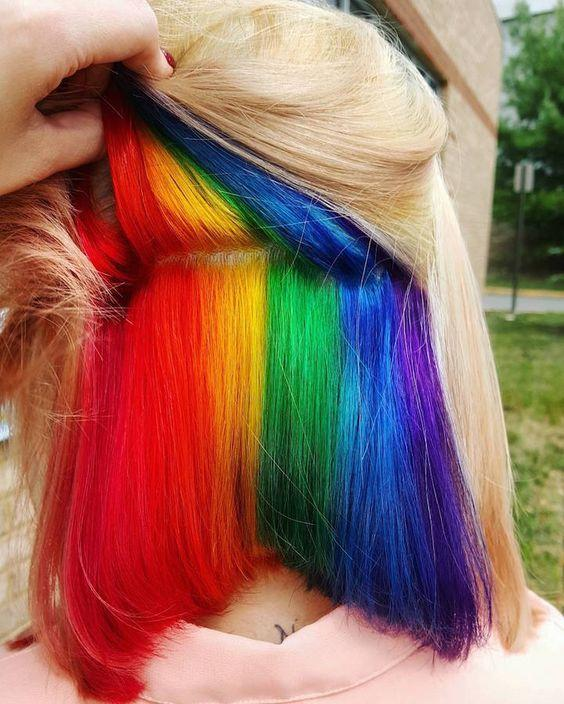 再不疯狂就老了~哪个妹子还没有个彩虹发的玛丽苏梦呢?