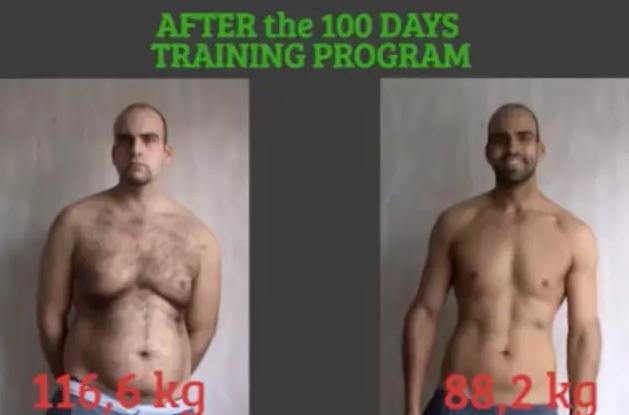坚持健身100天,型男会发生哪些变化?