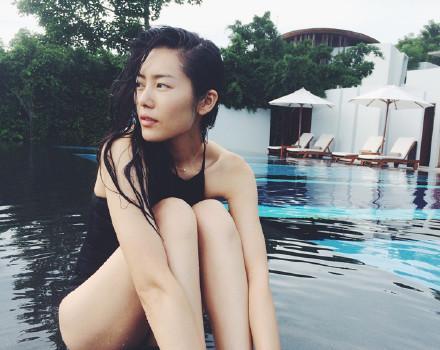 刘雯纯美泳装照 惊艳全世界看呆崔始源