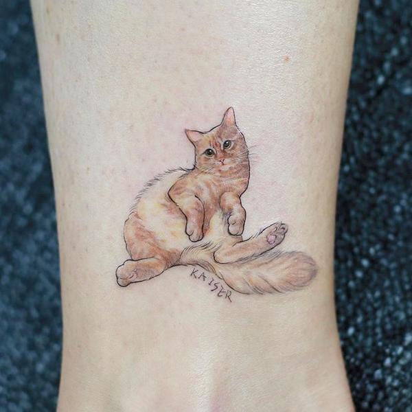如此小清新的纹身,绝不逊色一件潮流配饰