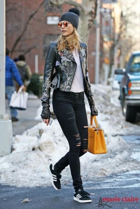 带着些许不羁与率性的Leather Jacket 谁还在乎什么少女心