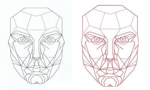 马夸特面具矢量图