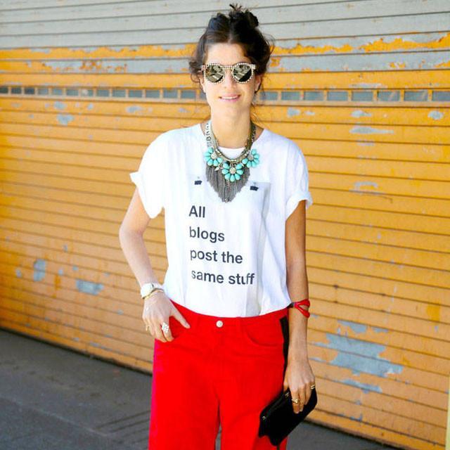 阔腿裤都是在别人身上好看?腿短那是借口,我用一件T恤就能穿好它!
