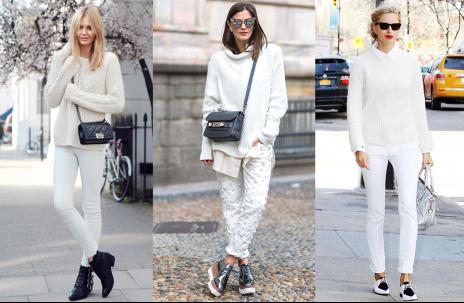 马苏穿着白色扭花思诺芙德SNOWFORTE上衣显温婉气质