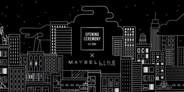 "Maybelline New York X Opening Ceremony  联名推出全新限量彩妆系列 ""摩登都市"""