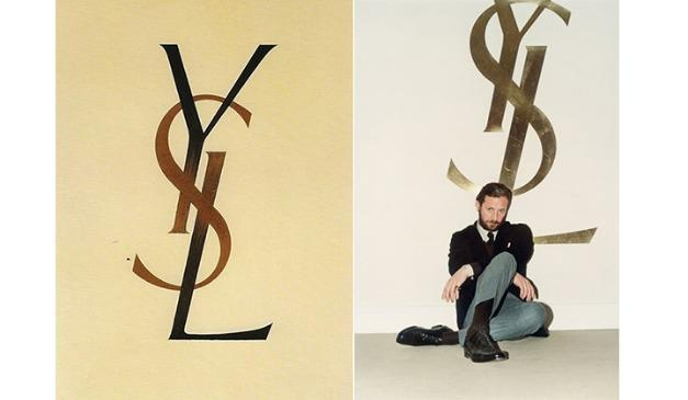 ysl logo手绘