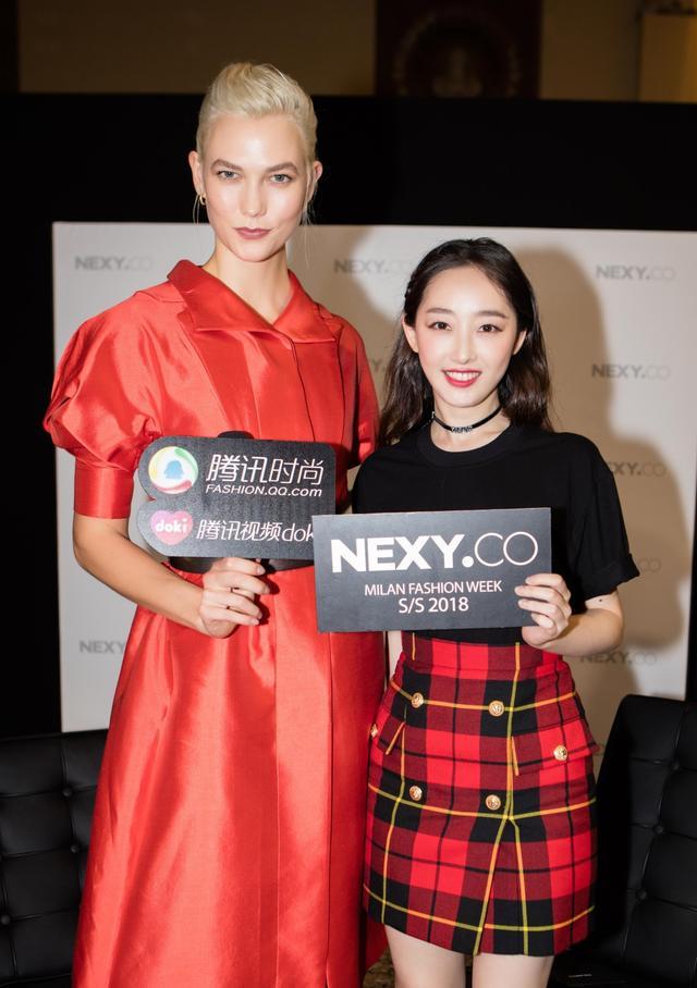 专访超模karlie kloss和中国女星蒋梦婕
