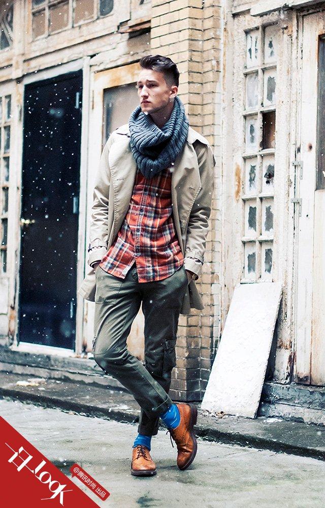 一日一look 下雪天也要露出袜子扮可爱