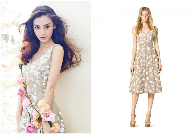 把春天穿在身上 女神撞衫印花裙赛美