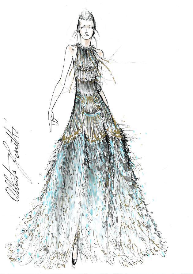 巴黎服装手绘设计图