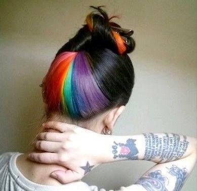 彩虹发是非主流?讲内涵就洋气啦图片