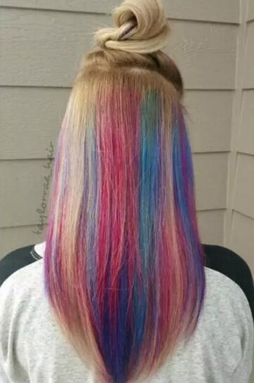 害怕头发撞色,彩虹发色还可以这样玩图片