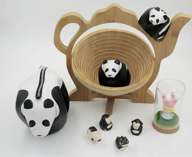 熊猫吃竹子纸盘手工制作图片