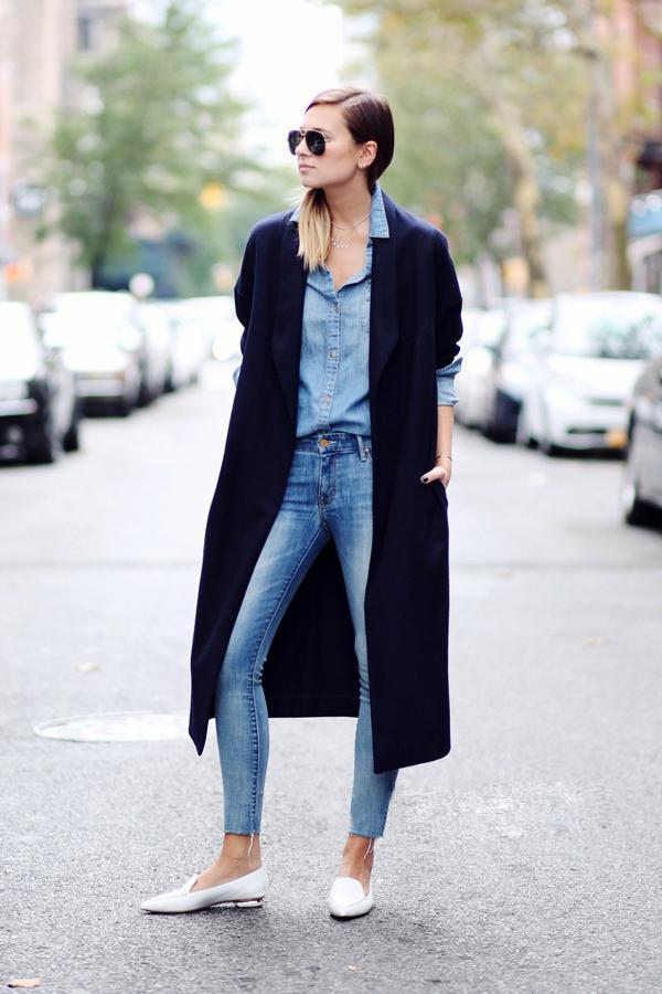 怀旧风直筒毛边牛仔裤Jeans也要玩出型!