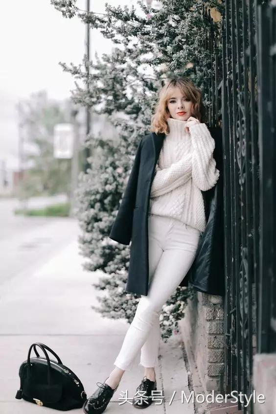 学会高领衫10种不同内搭法则,百搭又显瘦,美成一道街景!