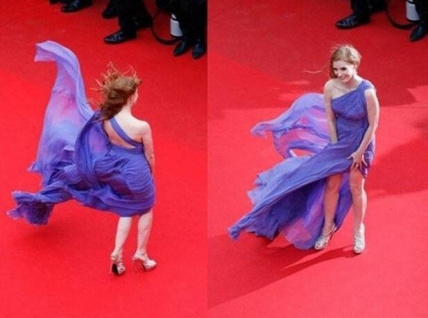 """红毯好看从Bella看起 """"走光""""成保留项目网友都忍不住帮打马赛克"""