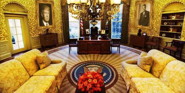 """川普:""""白宫是我住过最小的房子"""""""