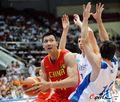 组图:中国74-56哈萨克斯坦 郅联合砍34分