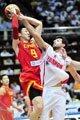 组图:中国vs黎巴嫩 男篮三节55-44领先