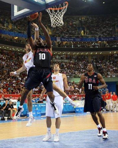 2008年北京奥运会男篮决赛 美国战西班牙(图)