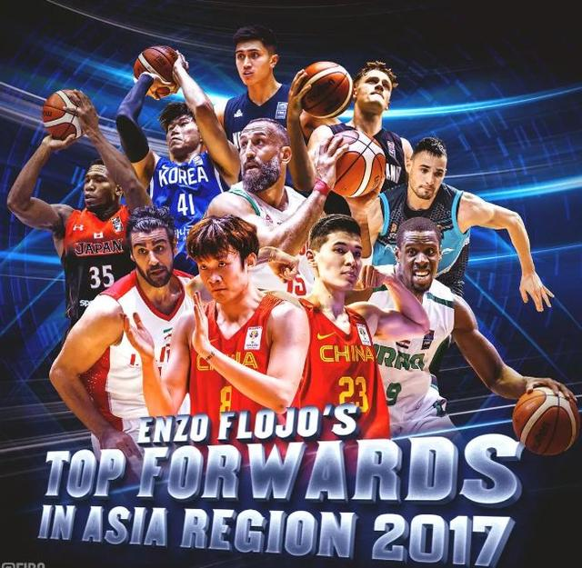 FIBA评2017年亚太区最佳锋线:丁彦雨航领衔