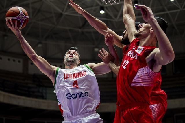 男篮世初赛-黎巴嫩双杀叙利亚 萨乌德三分球9中8