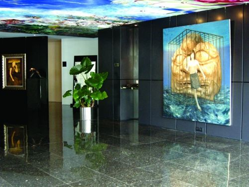 珠海中邦艺术酒店大堂