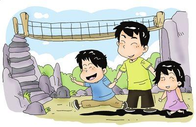 国庆节儿童手绘连环画
