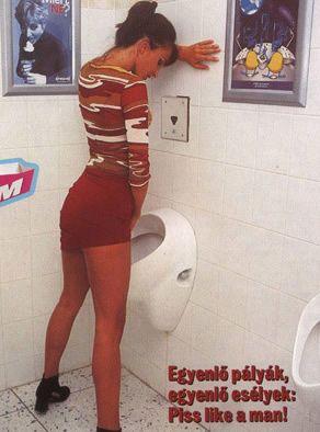 组图:台湾女生提倡站着尿尿