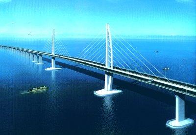 最长跨海大桥港珠澳大桥开工 投资700多亿