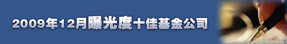 2009年12月新闻曝光度十佳基金公司