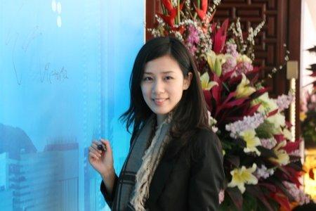 图文:申银万国(香港)联席董事王雅媛签到入场