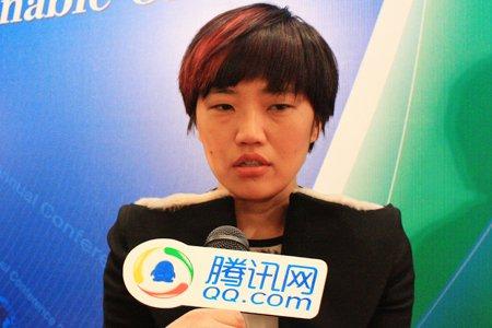 图文:沃尔沃中国公司副总裁蒋岚接受采访