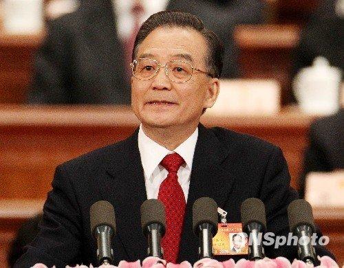 温家宝提中国经济十大数据 GDP增长目标8%左右