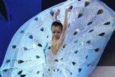 舞蹈家杨丽萍在表演孔雀舞