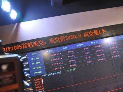图文:股指期货开市首笔交易 成交价3450