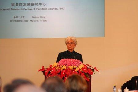 图文:国际货币基金组织总裁拉加德