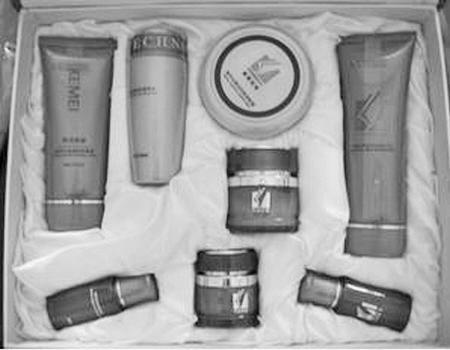 图为网上在销售的科美世家化妆品。本报截图