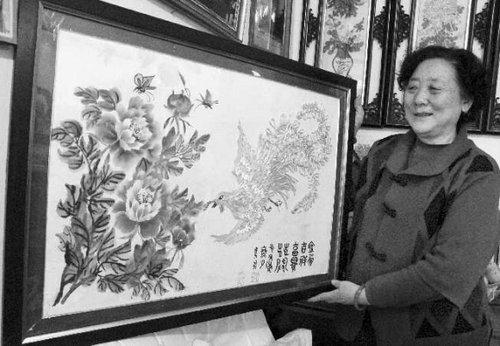 就变成了一朵美丽的小花;已经七十高龄,仍在进修函授专科的国画和书图片