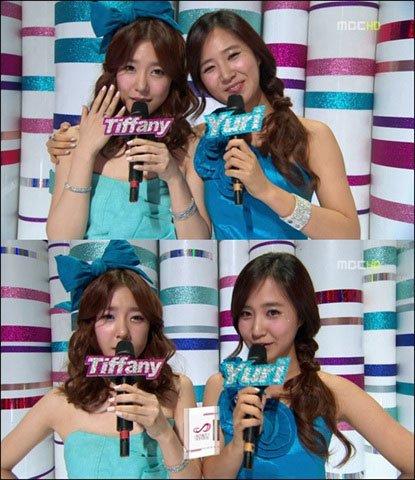韩国女子v女子时代舞台女生Tiffany回归短发发型盘成员视频少女中图片