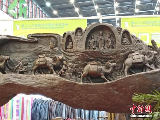 10吨乌木雕丝绸之路盛景 商家给出参考价9999万